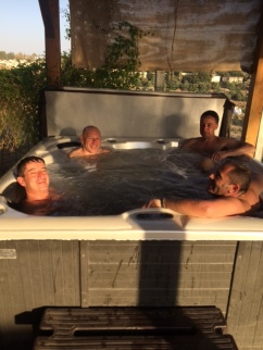 Hot Tub - end of Day 2