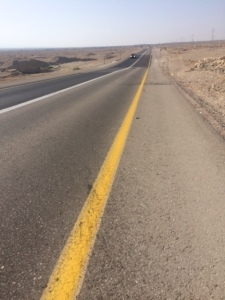 Long long road through desert