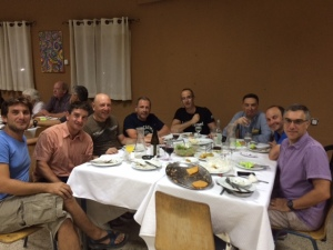 Shabbat meal at Kibbutz Lotan